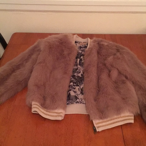 bc5f18c53 Mother Faux Fur Bomber Jacket